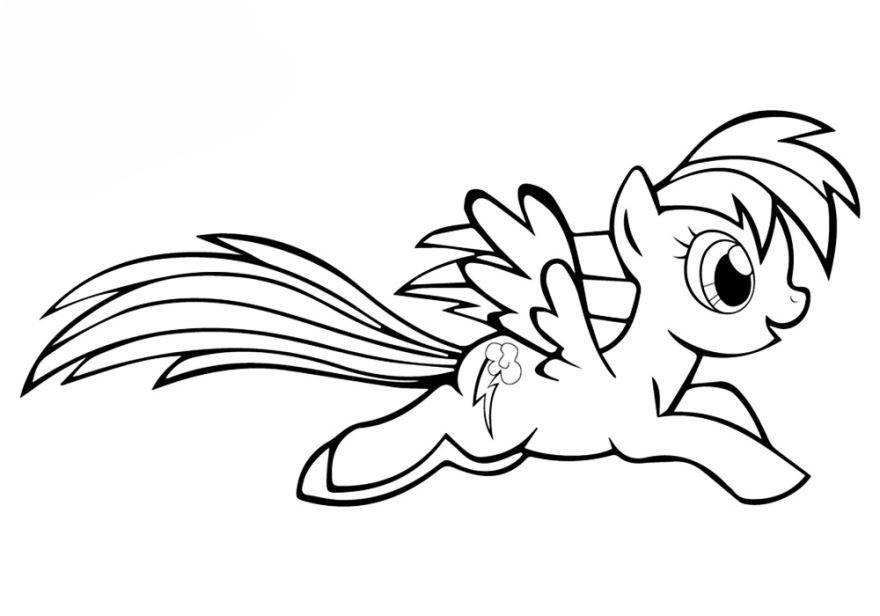 Литл пони раскраска для детей