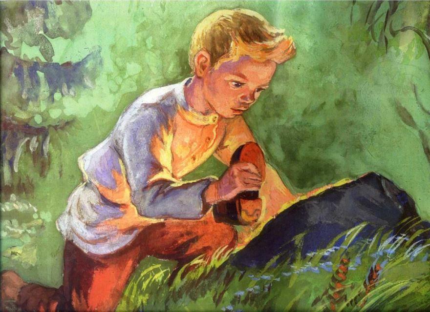 Рассказ Горячий камень, Аркадий Гайдар