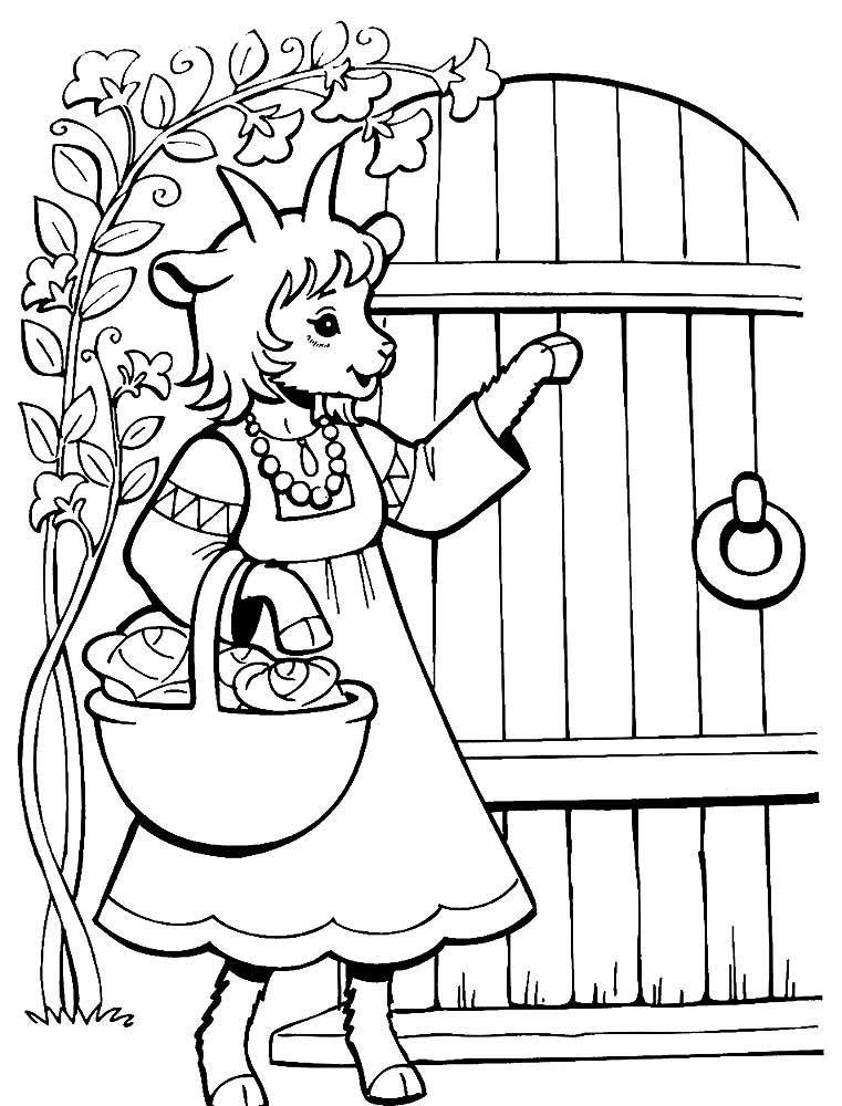 Распечатать раскраску сказки для детей