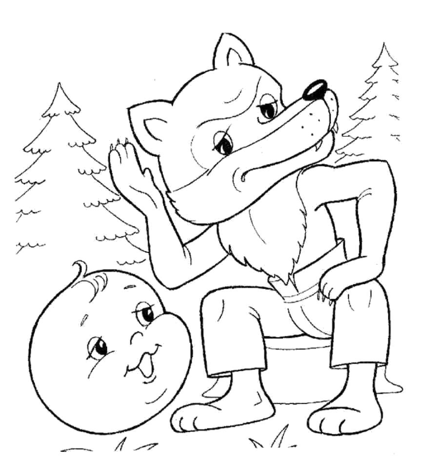 Сказки раскраски для детей