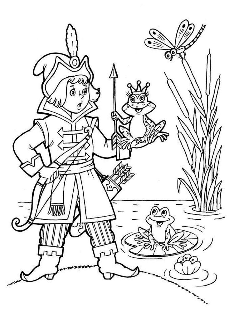 Раскраски сказки для детей, распечатать