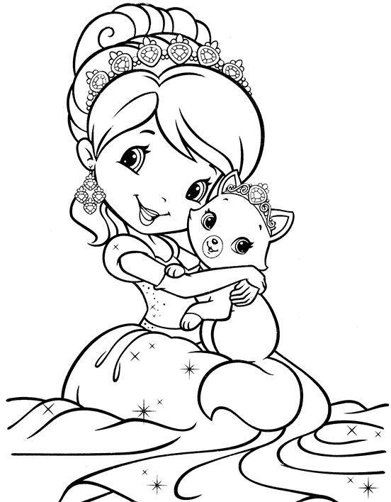 Принцесса раскраска для детей, распечатать
