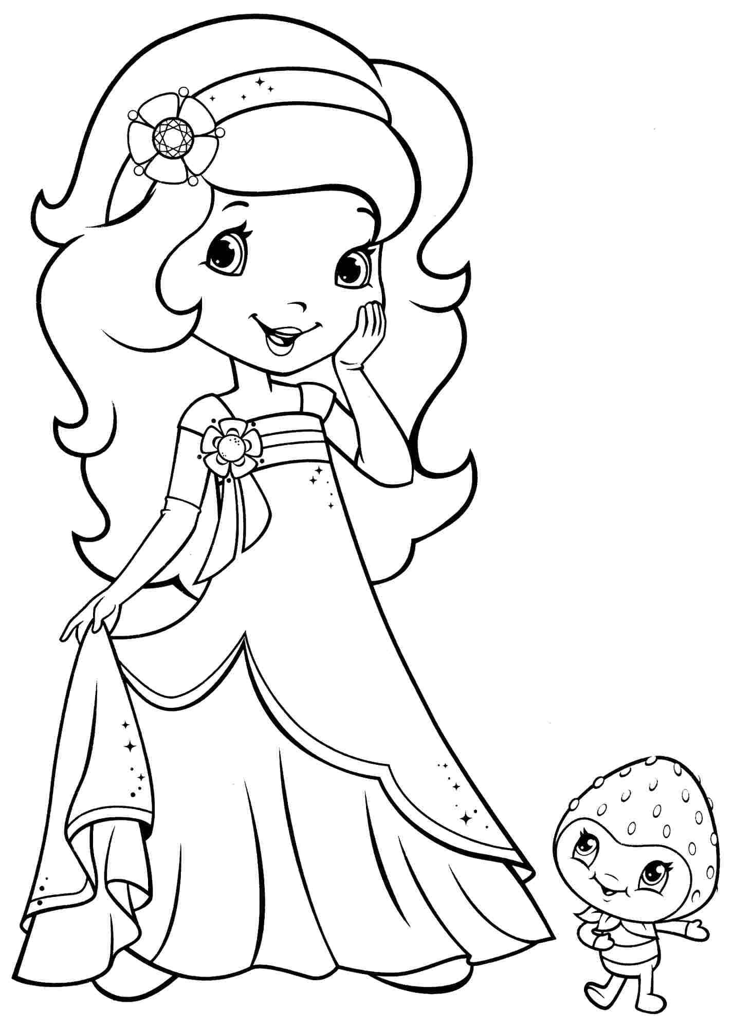 """""""Принцесса"""" раскраски для детей. Скачать и распечатать онлайн"""
