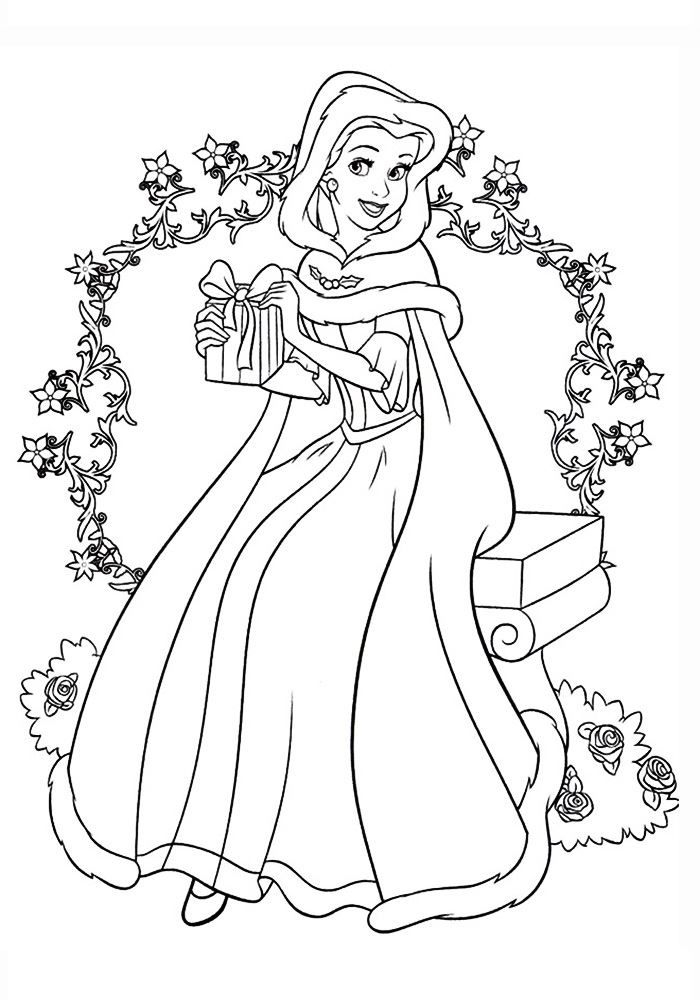 Раскраски принцессы, распечатать бесплатно