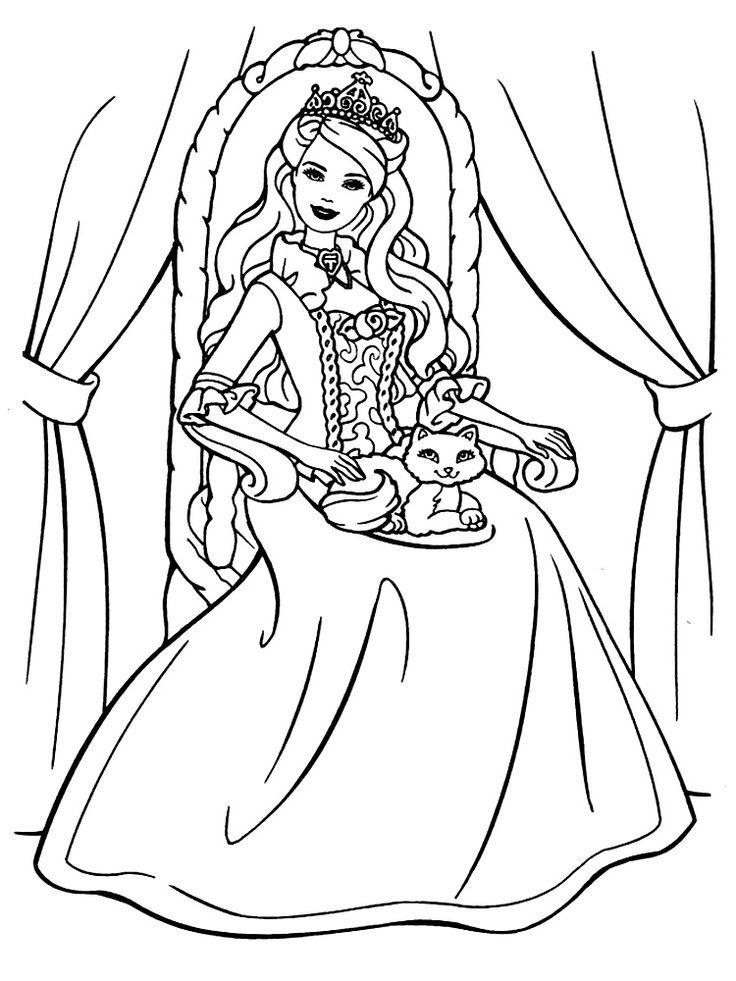 Раскраска принцесса, для девочек