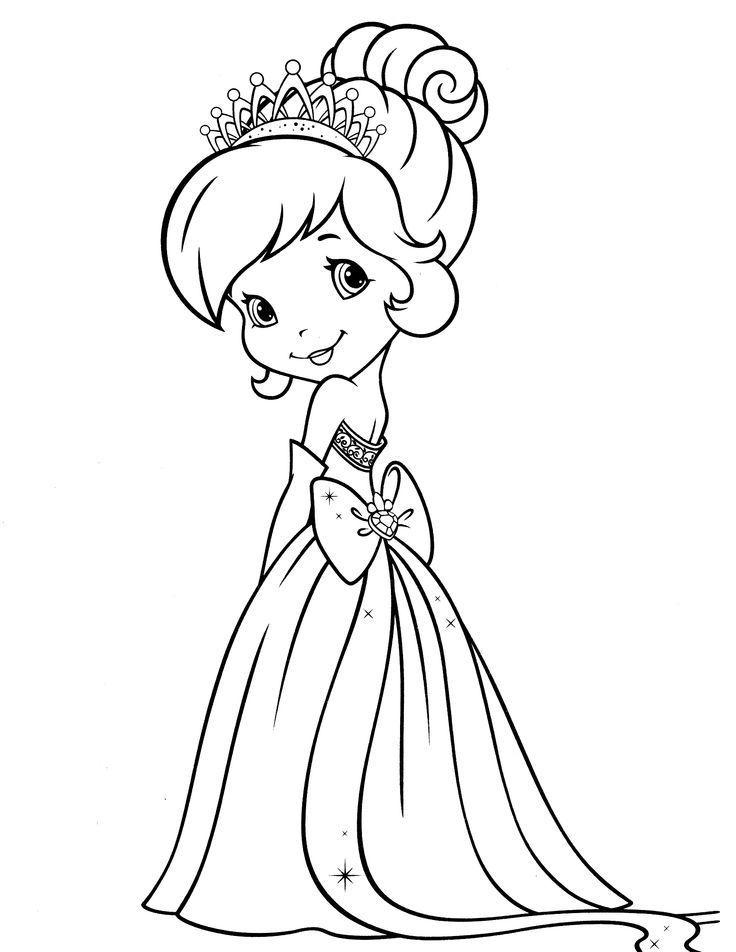 Раскраска принцесса, распечатать