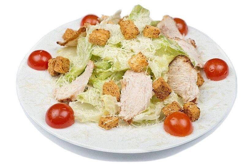 Салат 'Цезарь' с курицей простой рецепт