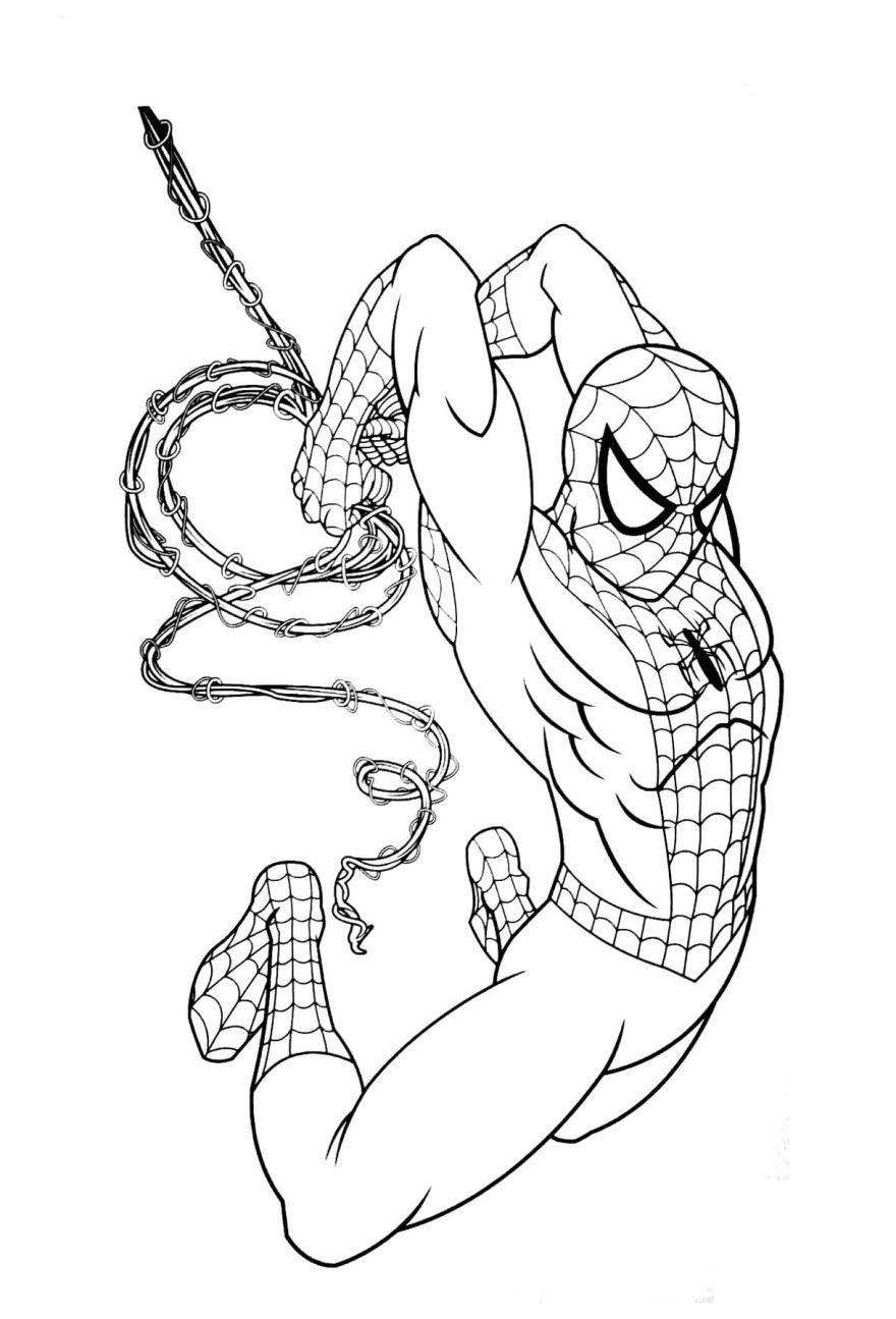 Раскраска для мальчиков - человек паук