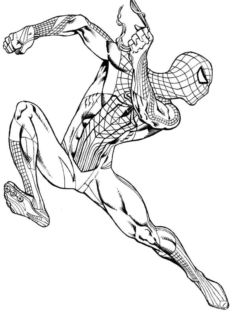 Раскраски для мальчиков - человек паук, распечатать