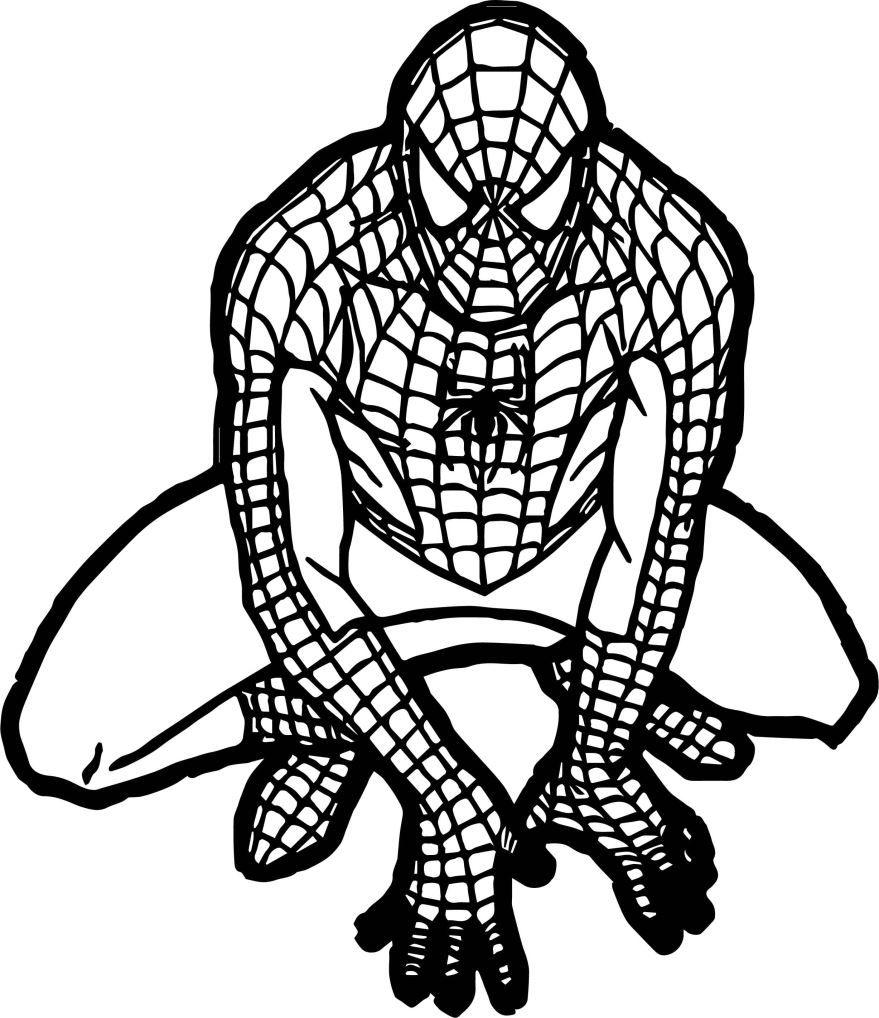 Человек паук раскраска для детей, распечатать