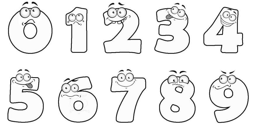 Раскраски по цифрам