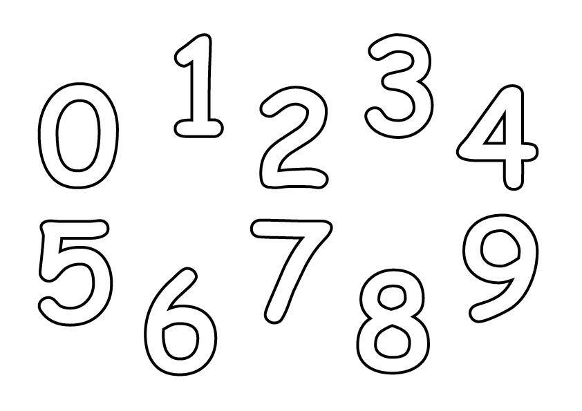 Распечатать раскраску для детей цифры