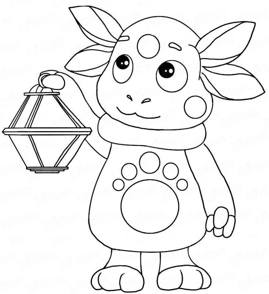 Раскраска Лунтик для мальчиков и девочек, распечатать