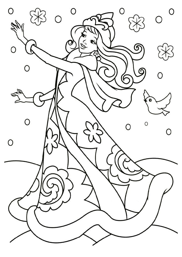 Раскраска зима для детей, распечатать бесплатно