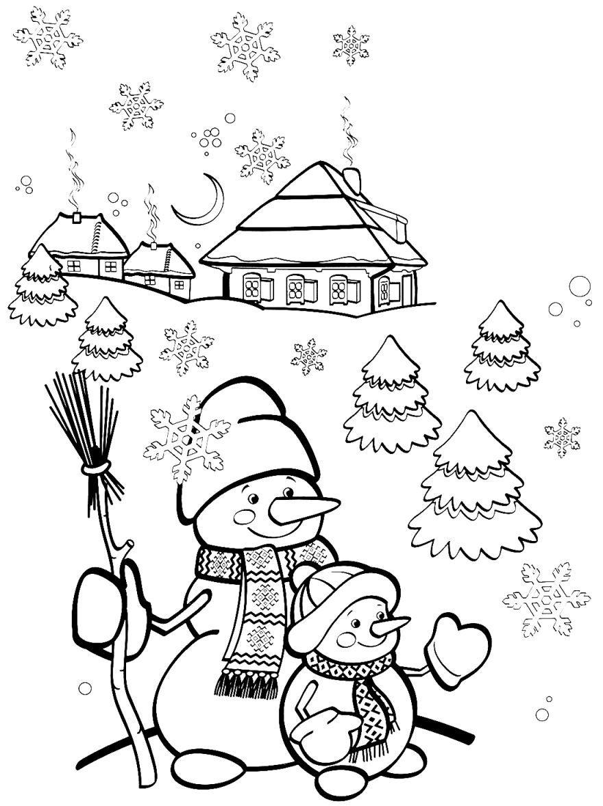 Раскраски про зиму для детей