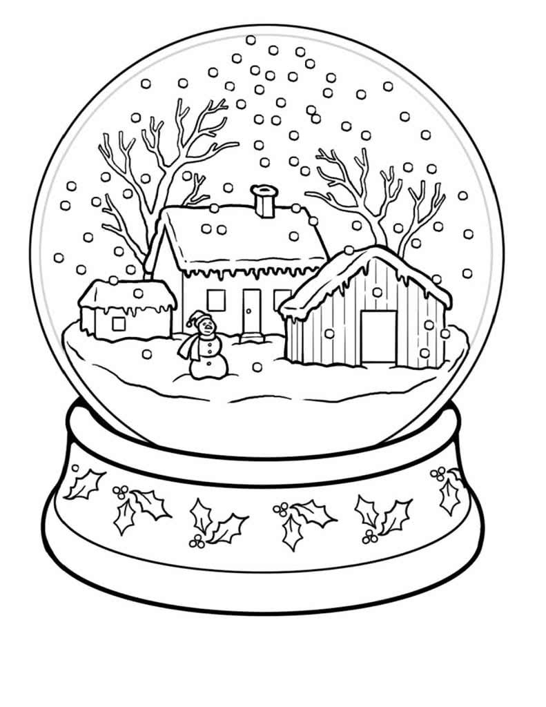 Раскраски на тему зима, распечатать бесплатно