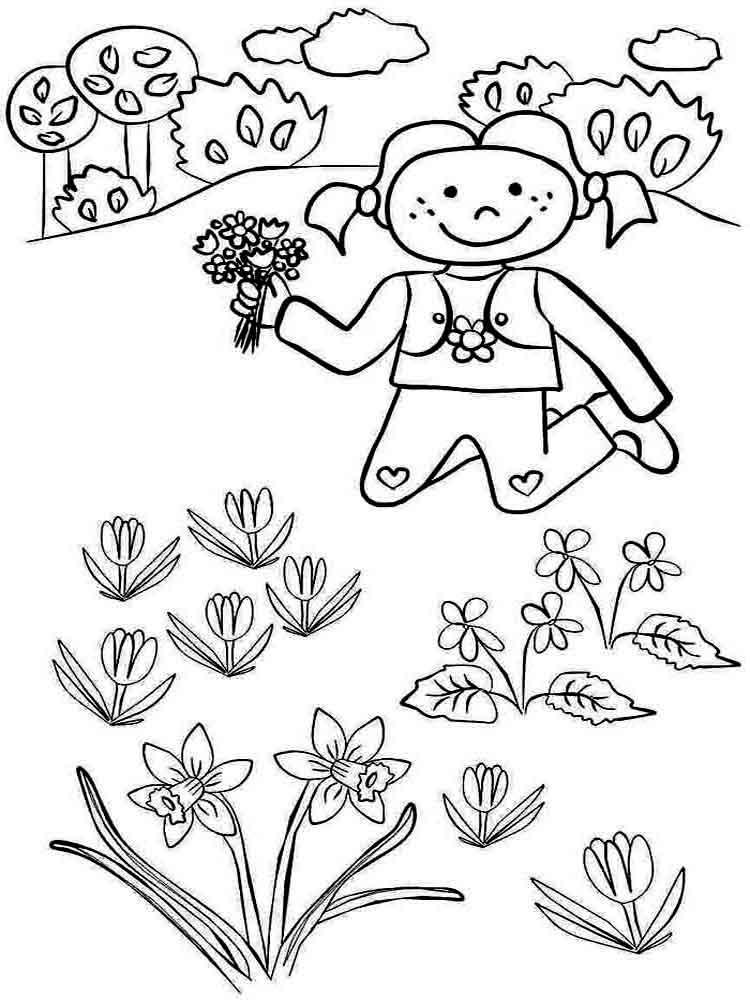 Раскраски Весна для детей, онлайн бесплатно