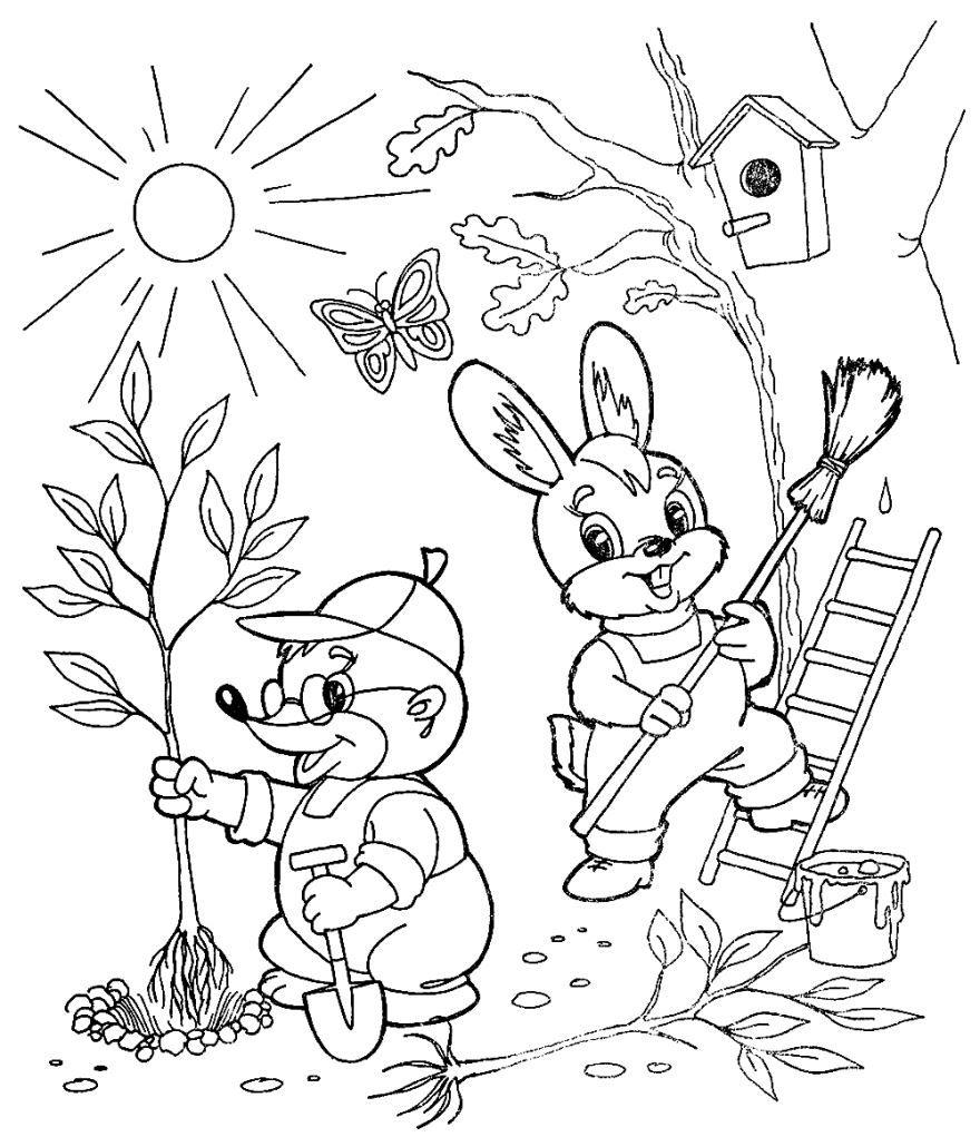 """""""Весна"""" раскраски для детей. Скачать, распечатать онлайн ..."""
