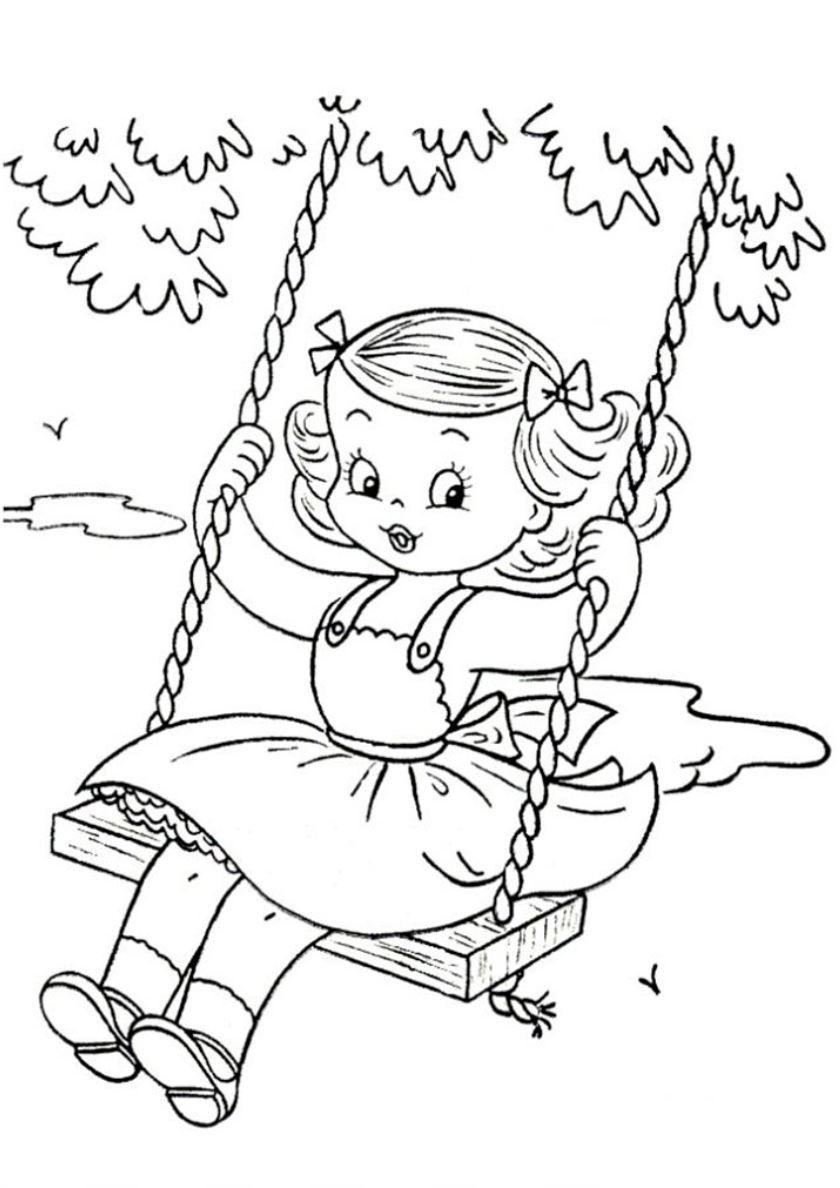 Раскраска Лето для детей