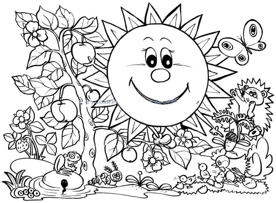 """""""Лето"""" раскраски для детей. Скачать, распечатать онлайн ..."""