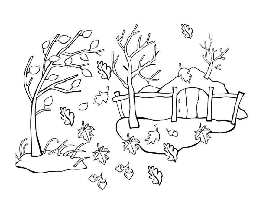 """""""Осень"""" раскраски для детей. Скачать, распечатать онлайн ..."""