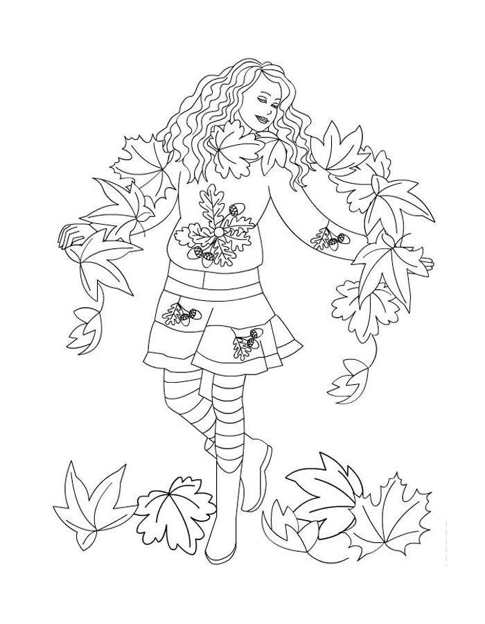 Раскраска Осень, онлайн бесплатно