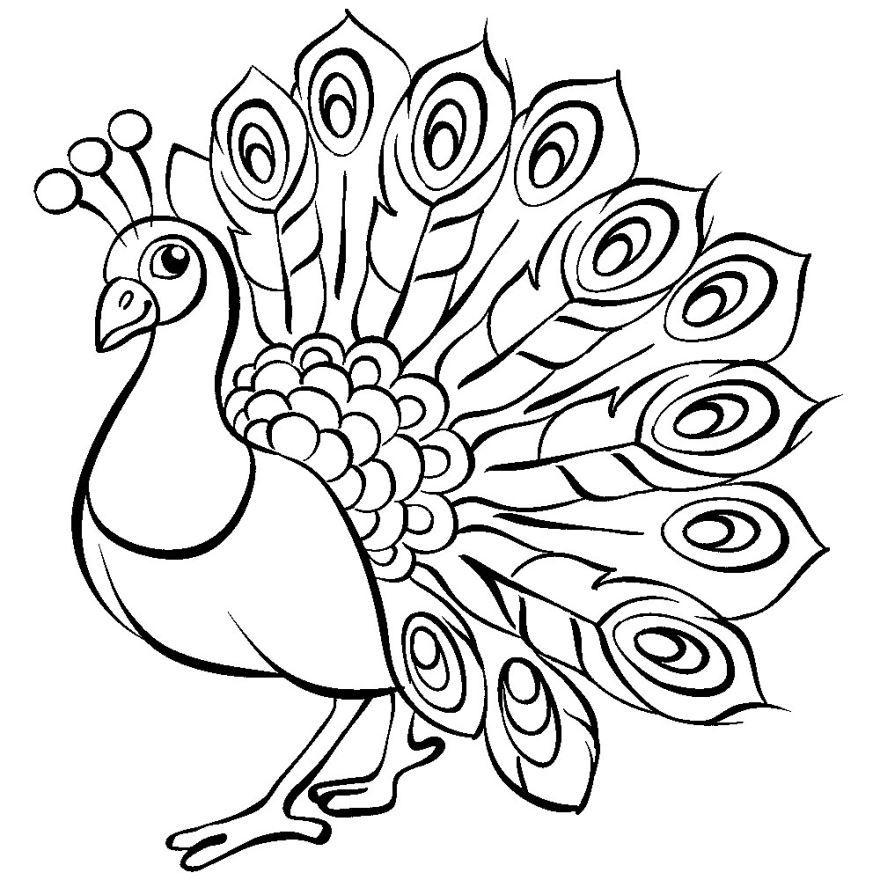 Жар птица раскраска для детей