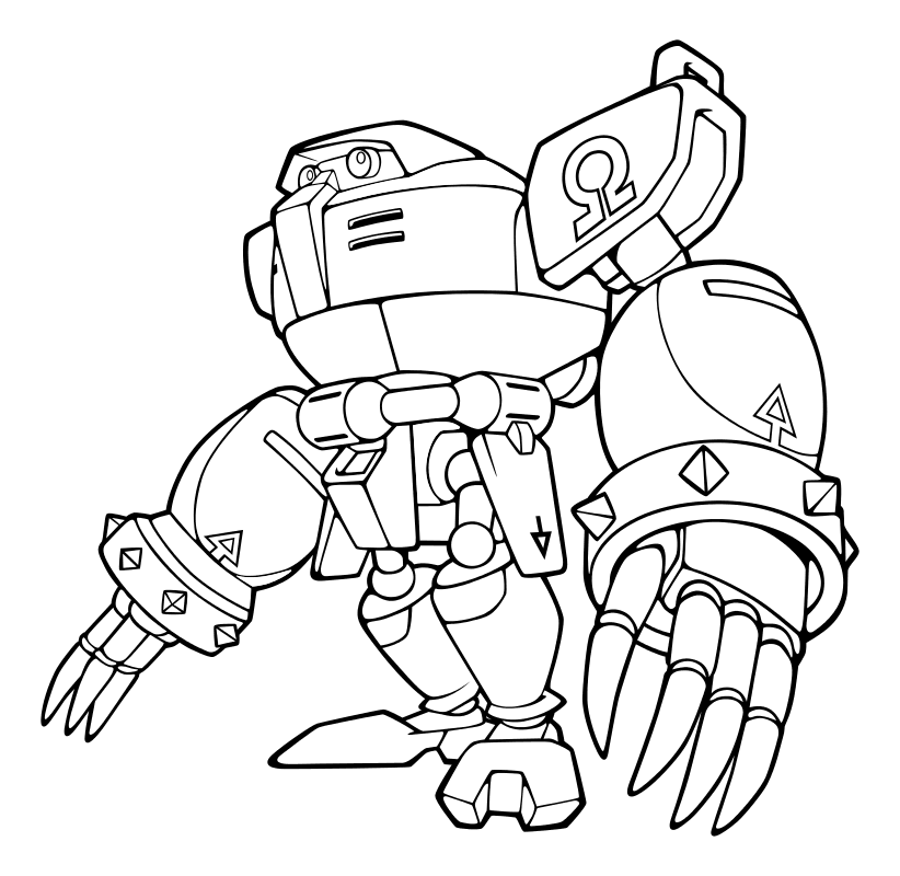 Распечатать раскраску для мальчиков - Робот