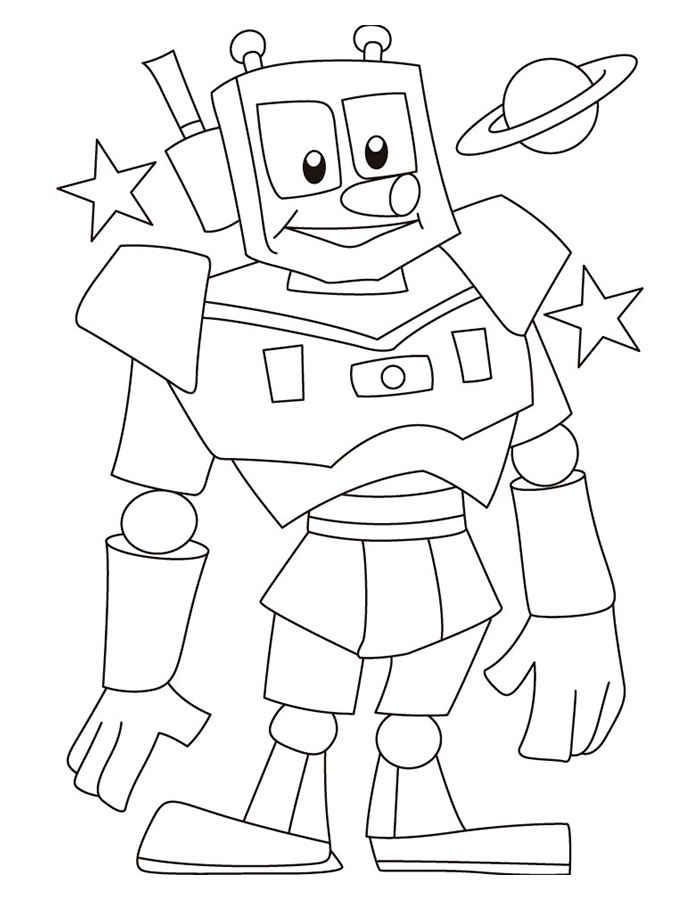 Раскраска Робот для детей