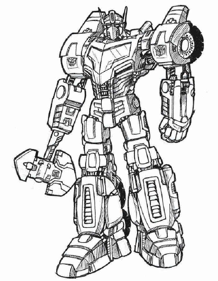 Раскраски роботы трансформеры
