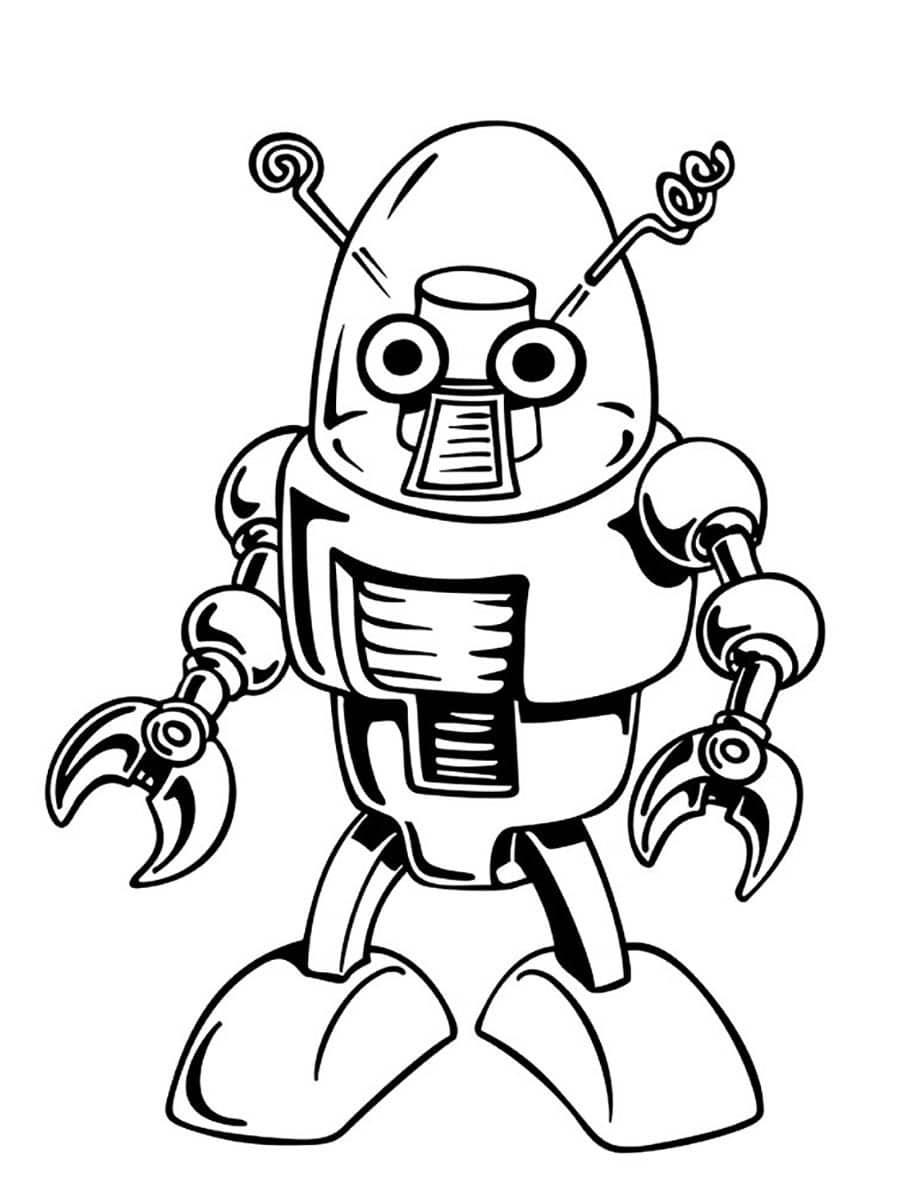 Распечатать раскраску - Робот