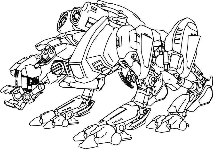 Раскраска Робот, распечатать
