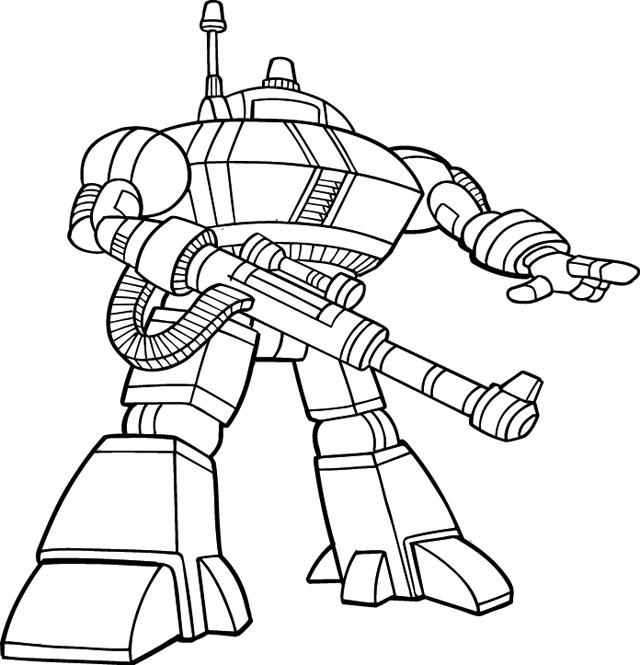Раскраски для детей - роботы