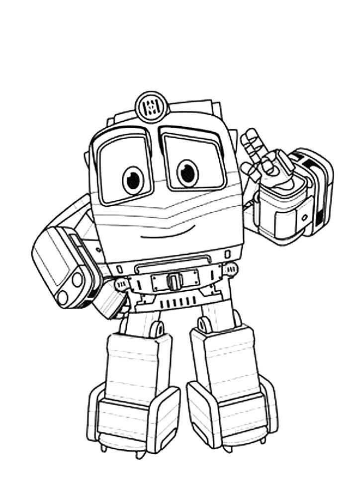 Скачать и распечатать раскраску робот