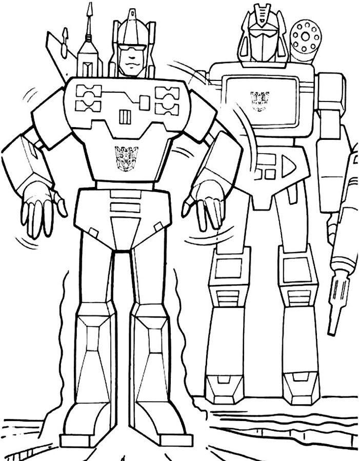 Распечатать раскраску - Робот трансформер