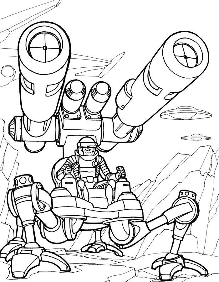 Раскраски для мальчиков - роботы