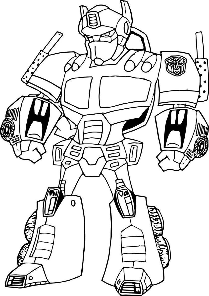 Раскраска робот для мальчиков