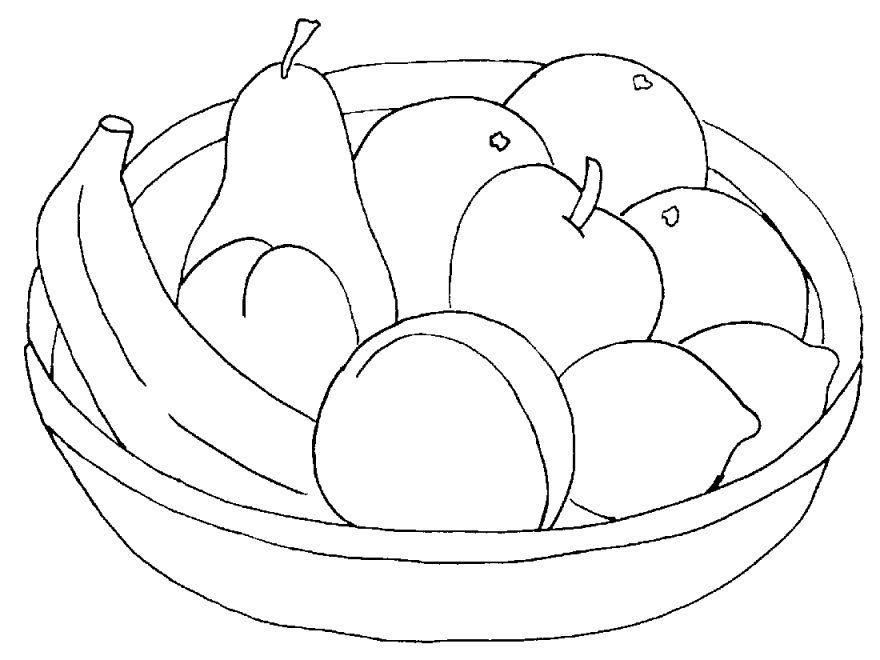 Раскраски фрукты для мальчиков и девочек