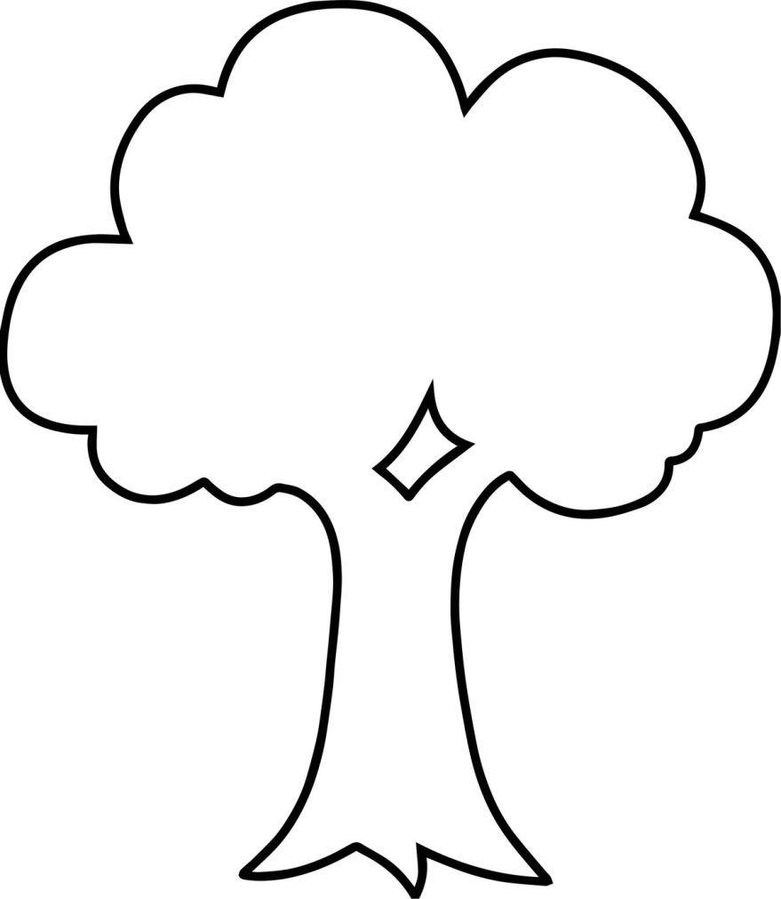 Раскраска дерево, распечатать