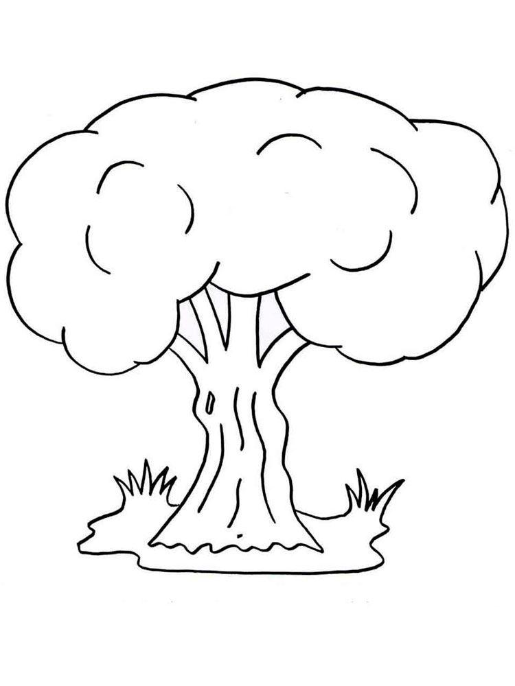 Деревья раскраска для детей, распечатать