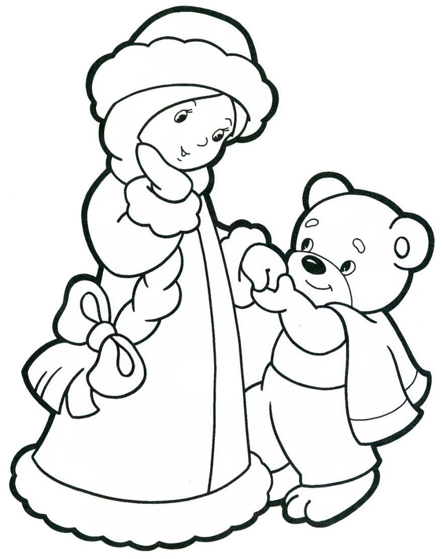 Скачать Новогоднюю раскраску для детей