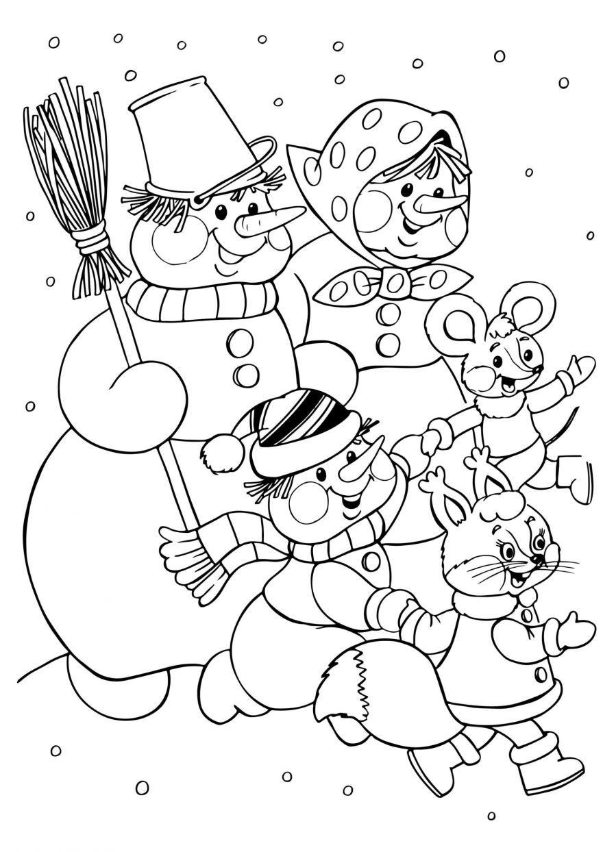 Раскраски Новогодние, распечатать бесплатно