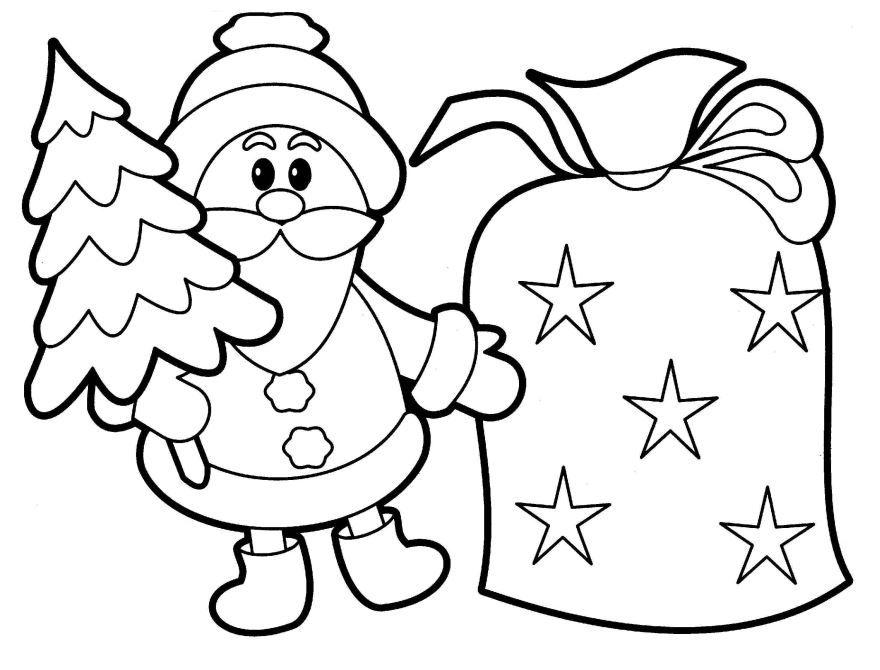 Новогодние раскраски для детей, скачать и распечатать бесплатно