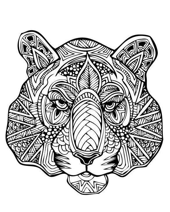 Раскраски антистресс - животные