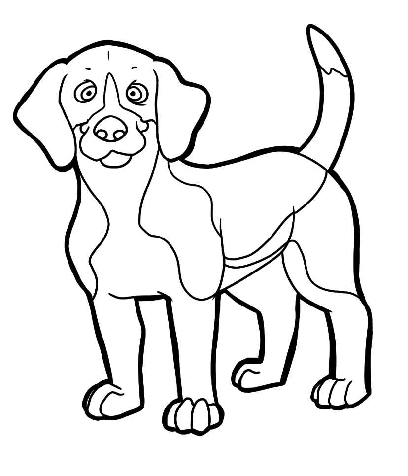Распечатать раскраски про собак, бесплатно