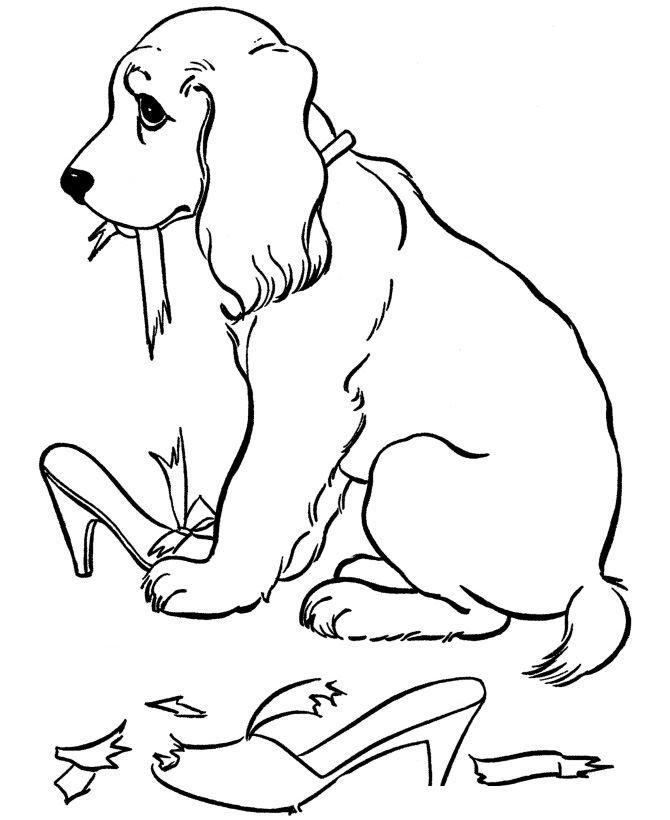 Раскраски собака, скачать и распечатать бесплатно