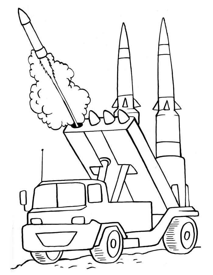 Военные раскраски для детей