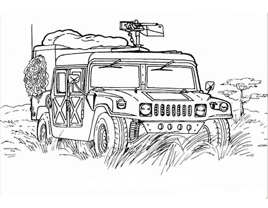 Раскраски для мальчиков военные