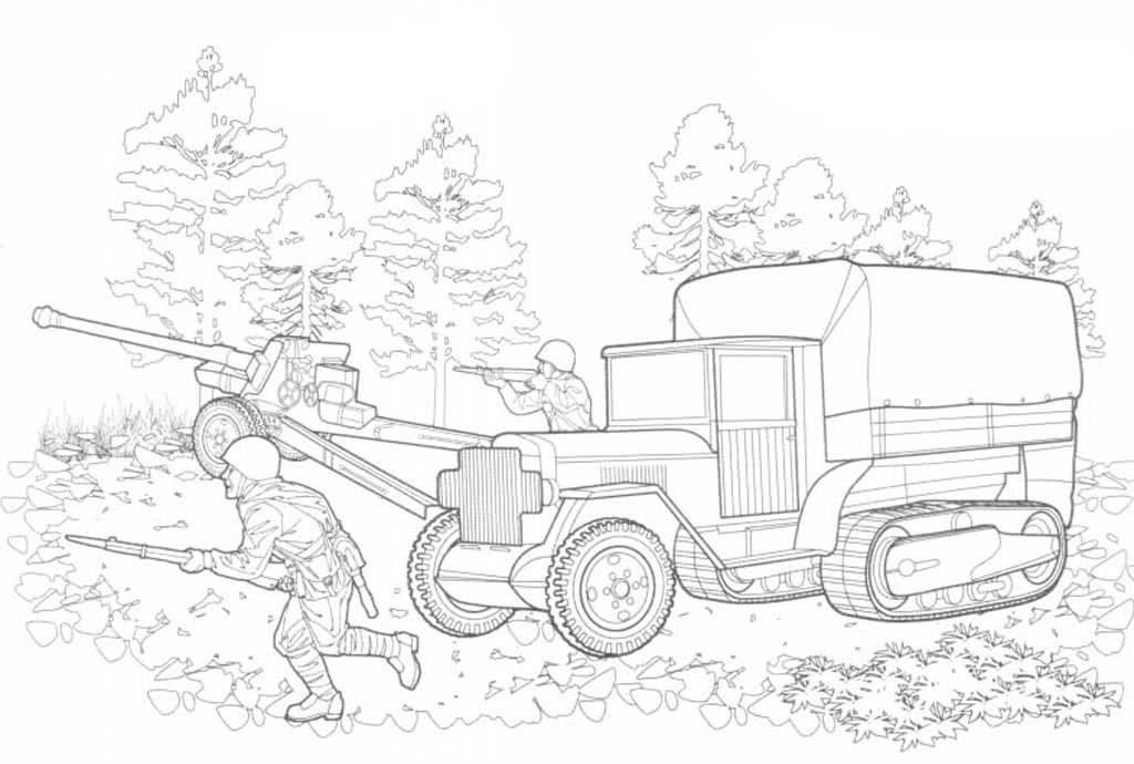 Раскраски для мальчиков, военные