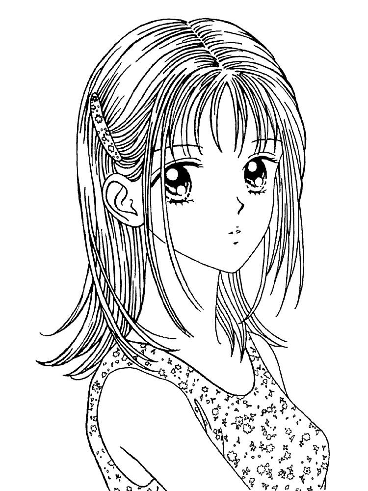 Раскраска волосы и лицо девушки